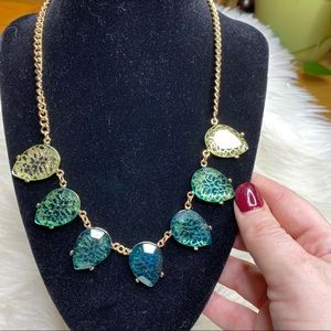 Ballet Green ombre statement necklace NEW